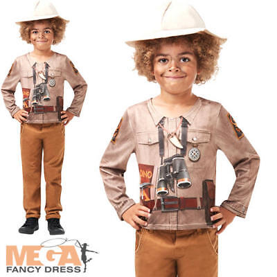 Dino Explorer Boys Fancy Dress Safari Jungle Halloween - Safari Explorer Halloween Kostüm