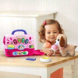 NEW: vtech Care for Me Learning Carrier and plush puppy(NO TAX)
