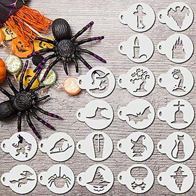 20 Pieces Halloween Cake Garland Stencils Painting Templates Reusable Boo