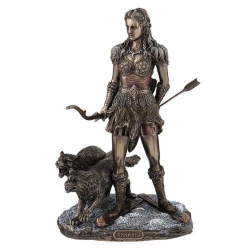 "10.75"" Skadi Norse Goddess Home Decor Figure Statue Sculpture Figurine"