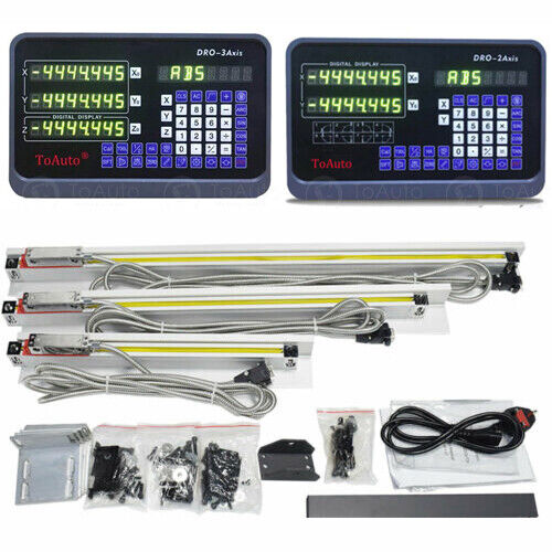 2/3 Axis Digital Readout DRO TTL Linear Glass Scale Encoder Kits for Mill Lathe