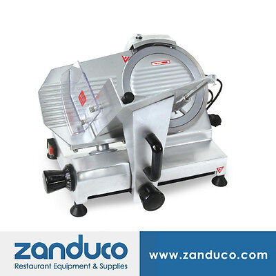 Omcan Deli Vegetable Meat Slicer With 9220 Mm Blade .16 Hp Etl Approved