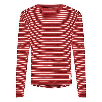 HYMN LONDON - NEW - Farwell Red Stripe 100% Cotton Top - Size Large