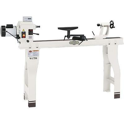 Shop Fox W1758 16 X 46 Wood Lathe With Stand And Dro - Floor Model