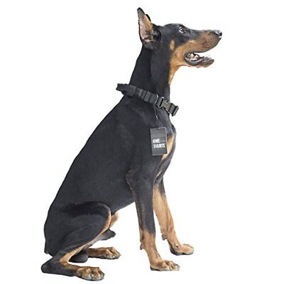 NEW OneTigris Tactical Nylon Dog Collar with Handle and Plastic Buckles Black
