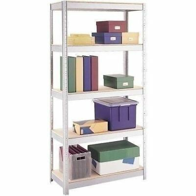 5 Shelf Metal Storage Rack Steel Shelving Adjustable Heavy Duty 36 X 16 X 72 In