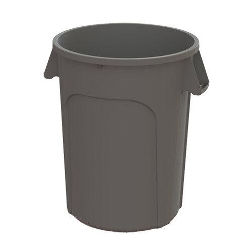 Kratos 32 Gallon Round Trash Can, Gray