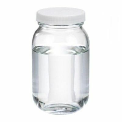 Wheaton W216929 Clear Standard Wide-mouth Glass Bottle W Ptfe Liner Cs 24 4 Oz