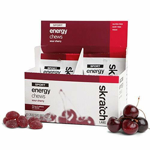 SKRATCH LABS Sport Energy Chews, Sour Cherry with Caffeine (10 pack)