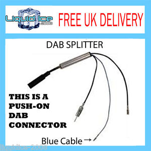 06-536-CAR-RADIO-AERIAL-DAB-DAB-SPLITTER-LEAD-VAN-COMMERCIAL-VEHICLES-MOTORHOME