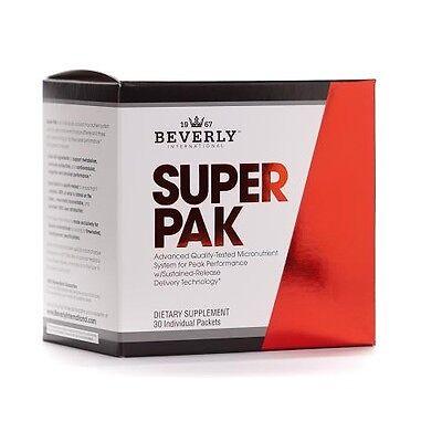 Beverly SUPER PAK Athlete's Vitamin-Mineral  30 Packets MUSCLE VITAMINS Pak 30 Paks