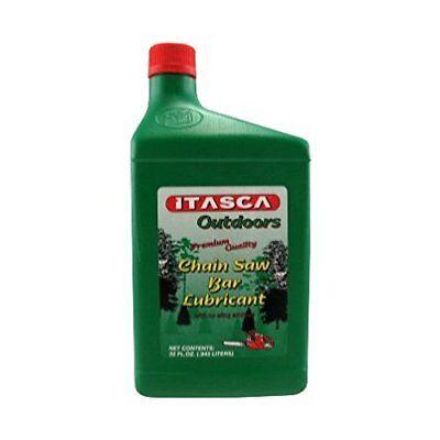1 Quart Chain Saw Bar & Chain Oil Lubricant Premium Quality ITASCA High Load NEW