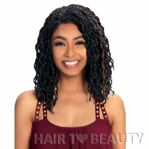 Zury Sis Wavy & Curly Faux Locs Swiss Lace Front Wig POLLA