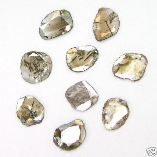 3+ Carats Rose Cut Flat POLISHED ROUGH DIAMONDS Slices
