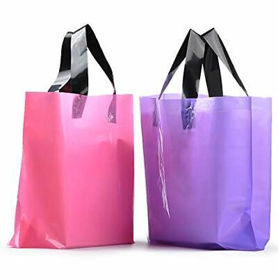 Yookeehome 100pcs Frosted Plastic Gift Bags Large Merchandise Bags Retail Clo...