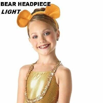 Animal Ears Headband Dance Costume Dandy Lion King Bear Mouse Light Clearance - Bear Ears Costume