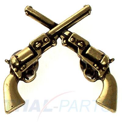 boy Dekor Gekreuzte 1861 Colt Revolver Pistolen Antik Bronze (Cowboy Dekor)