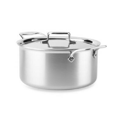 All-Clad BD55508 D5 Brushed 5-Ply Dishwasher Safe 8-qt Stock Pot with Lid Dishwasher Safe Stock Pot