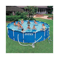 Used Intex 16x48 inch Metal Frame  Pool Liner