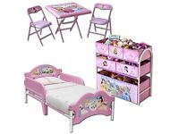 Disney Princess bedroom set.