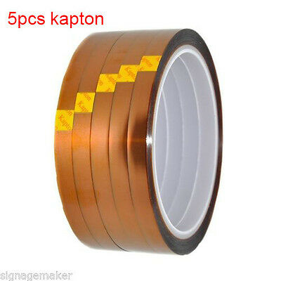 Heat Resistance Proof Tape 3d Sublimation Kapton Tape For Heat Press Print 5 Pcs