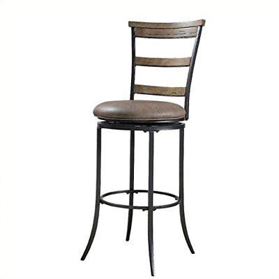 Hillsdale Furniture Charleston 46-Inch Ladder Back Swivel Bar Stool, Desert Tan