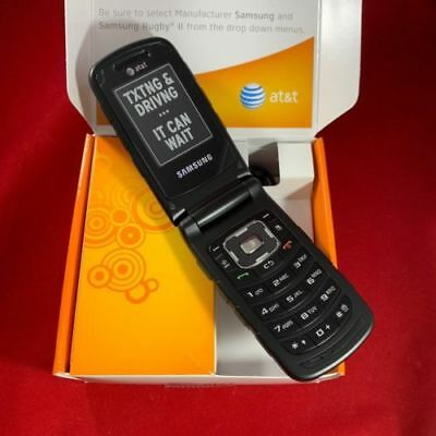 New Samsung Rugby 2 II A847 3G AT&T ,T-Mobile GSM (Unlocked )Flip Phone Black ()