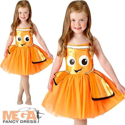 Finding Nemo Fish Girls Fancy Dress Disney Childrens Book Kids Sea Child Costume (Nemo Girl Kostüm)