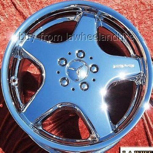 "Set Of 4 Chrome 18"" Mercedes Benz Sl500 Sl600 Sl320 Amg Oem Wheels Rims 65228"