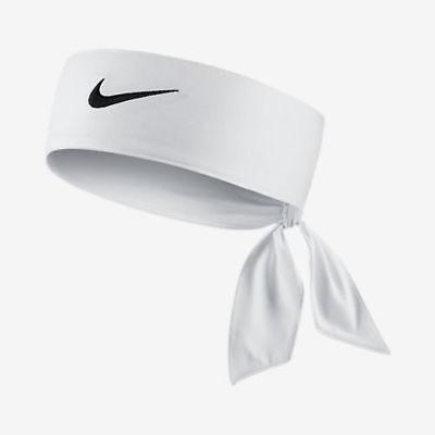 6b21eb48f28 Nike Swoosh Dri-Fit White Unisex Head Tie Headband New Men Ladies Womens  Headtie