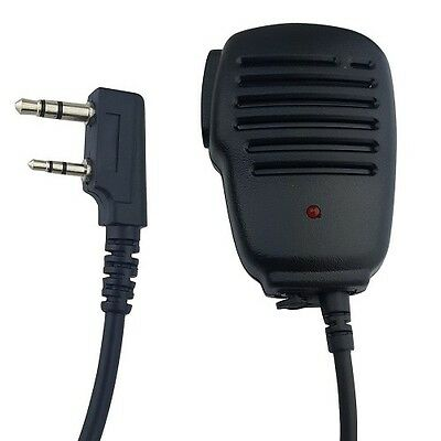 Red Led Light Speaker Mic 2-prong For Kenwood Vhf Uhf Portable Two-way Radio