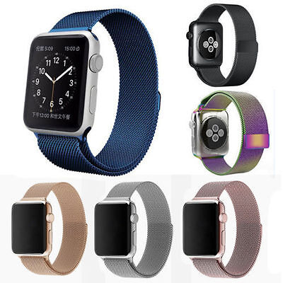 Stainless Steel Milanese Loop Magnetic Watch Band For  Iwatch 38 42Mm