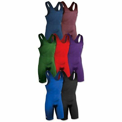 Brute 0138 Solid Color Lycra Wrestling Singlet  Adult Med & Large