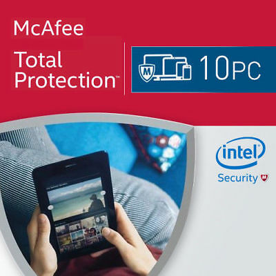 McAfee Total Protection 2021 10 PC 1 Year License Internet Security 2020 US