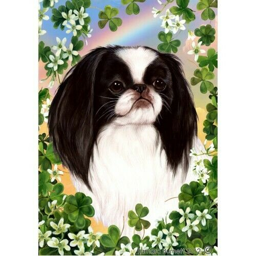Clover House Flag - Japanese Chin 31133