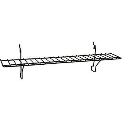 Wire Shelf In Black Fits Slatwallgridpegboard 23w X 4d - 10 Pc