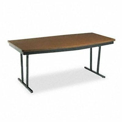 """Barricks Foldable Conference Table - Boat - 72"""" X 36"""" X 30"""" - Walnut Top"""