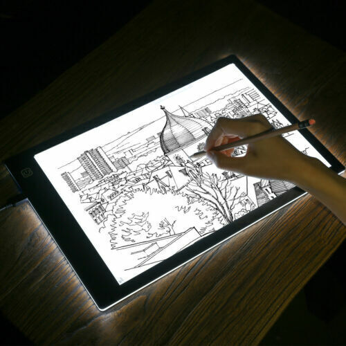A4 USB LED Artist Weeding Tattoo Stencil Board Light Box Tracing Drawing Pad