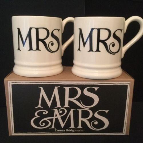 Mr & Mrs Emma Bridgewater mugs