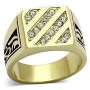 Mens 18K Solid Gold Ring