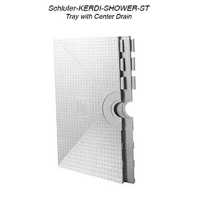 "Schluter Kerdi Shower Tray 72""x72"" Center Drain Placement ST-183"
