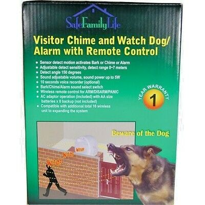 Electronic Barking Dog Alarm Home Burglar Security System With REMOTE CONTROL