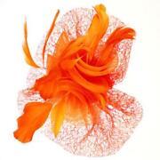 Orange Fascinator