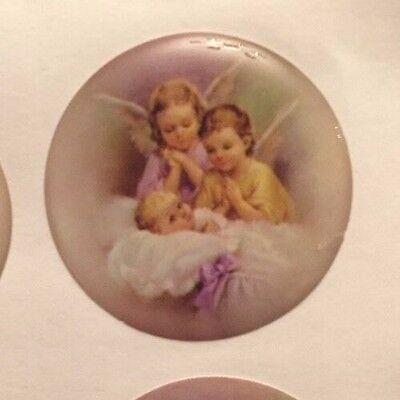 Baptism Angel Sticker/Embellishments Favors, Invitations Or Centerpieces - Baptism Centerpieces