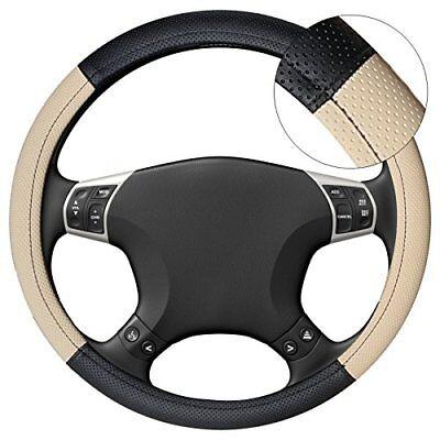Coprivolante Copri Volante Diametro 38 Presa Comfort Auto Nero Beige Linq