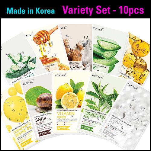 10pcs Bundle Face Mask Sheet Korean Cosmetics Moisture Brigh