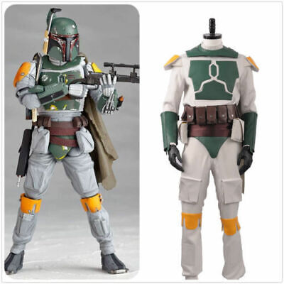 Movie Star Wars Boba Fett Superhero Fighter Suit Adult Outfit Cosplay Cos](Boba Fett Suit)
