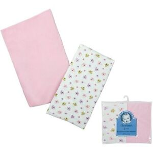 New Gerber Knit Bassinet Sheets, Pink/Butterflies, Set of 2