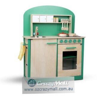 8pc Accessories Wooden Children Kids Kitchen