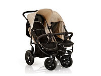 Hauck Roadster Duo Double Buggy - Caviar/Almond £90 ono